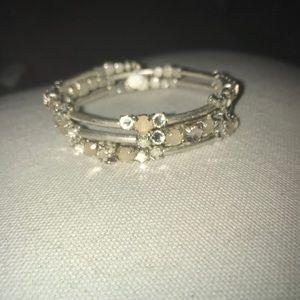 Stella & Dot silver wrap bracelet